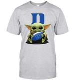 Baby Yoda Hug Duke Blue Devils The Mandalorian T-Shirt