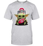 Baby Yoda Hug Ohio State Buckeyes The Mandalorian T-Shirt