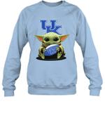 Baby Yoda Hug Kentucky Wildcats The Mandalorian Sweatshirt