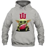 Baby Yoda Hug Indiana Hoosiers The Mandalorian Hoodie