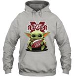Baby Yoda Hug Mississippi State Bulldogs The Mandalorian Hoodie