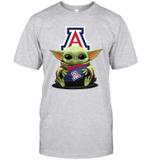 Baby Yoda Hug Arizona Wildcats The Mandalorian T-Shirt