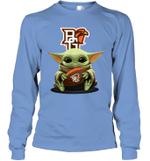 Baby Yoda Hug Bowling Green Falcons The Mandalorian Long Sleeve T-Shirt