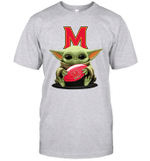 Baby Yoda Hug Maryland Terrapins The Mandalorian T-Shirt