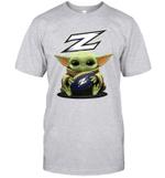 Baby Yoda Hug Akron Zips The Mandalorian T-Shirt