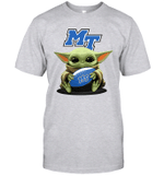 Baby Yoda Hug Middle Tennessee Blue Raiders The Mandalorian T-Shirt