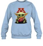 Baby Yoda Hug Minnesota Golden Gophers The Mandalorian Sweatshirt