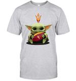 Baby Yoda Hug Arizona State Sun Devils The Mandalorian T-Shirt