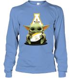 Baby Yoda Hug Appalachian State Mountaineers The Mandalorian Long Sleeve T-Shirt