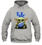 Baby Yoda Hug Kentucky Wildcats The Mandalorian Hoodie