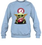 Baby Yoda Hug Alabama Crimson Tide The Mandalorian Sweatshirt