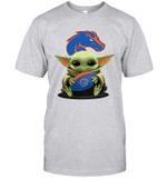Baby Yoda Hug Boise State Broncos The Mandalorian T-Shirt