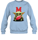Baby Yoda Hug Maryland Terrapins The Mandalorian Sweatshirt