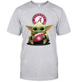 Baby Yoda Hug Alabama Crimson Tide The Mandalorian T-Shirt