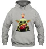 Baby Yoda Hug Arizona State Sun Devils The Mandalorian Hoodie