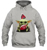Baby Yoda Hug Ball State Cardinals The Mandalorian Hoodie