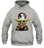 Baby Yoda Hug Florida State Seminoles The Mandalorian Hoodie