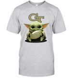 Baby Yoda Hug Georgia Tech Yellow Jackets The Mandalorian T-Shirt