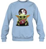 Baby Yoda Hug Florida State Seminoles The Mandalorian Sweatshirt