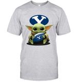 Baby Yoda Hug Brigham Young Cougars The Mandalorian T-Shirt