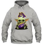 Baby Yoda Hug East Carolina Pirates The Mandalorian Hoodie