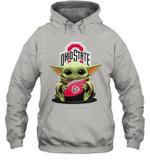 Baby Yoda Hug Ohio State Buckeyes The Mandalorian Hoodie