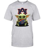 Baby Yoda Hug Auburn Tigers The Mandalorian T-Shirt