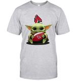 Baby Yoda Hug Ball State Cardinals The Mandalorian T-Shirt