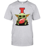 Baby Yoda Hug Illinois Fighting Illini The Mandalorian T-Shirt