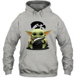 Baby Yoda Hug Iowa Hawkeyes The Mandalorian Hoodie