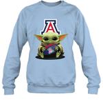 Baby Yoda Hug Arizona Wildcats The Mandalorian Sweatshirt