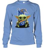 Baby Yoda Hug Memphis Tigers The Mandalorian Long Sleeve T-Shirt