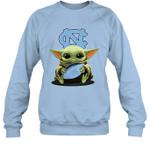 Baby Yoda Hug North Carolina Tar Heels The Mandalorian Sweatshirt