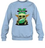 Baby Yoda Hug Marshall Thundering Herd The Mandalorian Sweatshirt