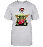 Baby Yoda Hug North Carolina State Wolfpack The Mandalorian T-Shirt
