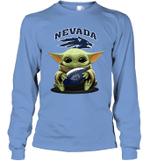 Baby Yoda Hug Nevada Wolf Pack The Mandalorian Long Sleeve T-Shirt