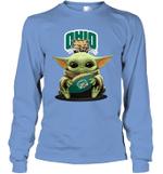Baby Yoda Hug Ohio Bobcats The Mandalorian Long Sleeve T-Shirt