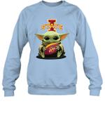 Baby Yoda Hug Iowa State Cyclones The Mandalorian Sweatshirt