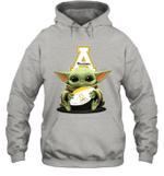 Baby Yoda Hug Appalachian State Mountaineers The Mandalorian Hoodie