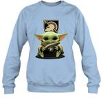 Baby Yoda Hug Army Black Knights The Mandalorian Sweatshirt