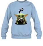 Baby Yoda Hug Cincinnati Bearcats The Mandalorian Sweatshirt