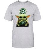 Baby Yoda Hug Colorado State Rams The Mandalorian T-Shirt