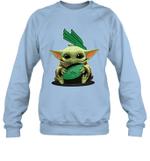 Baby Yoda Hug North Texas Mean Green The Mandalorian Sweatshirt