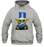 Baby Yoda Hug Duke Blue Devils The Mandalorian Hoodie