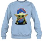 Baby Yoda Hug Boise State Broncos The Mandalorian Sweatshirt