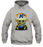 Baby Yoda Hug Kent State Golden Flashes The Mandalorian Hoodie