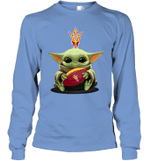 Baby Yoda Hug Arizona State Sun Devils The Mandalorian Long Sleeve T-Shirt