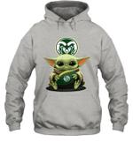 Baby Yoda Hug Colorado State Rams The Mandalorian Hoodie