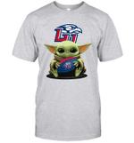 Baby Yoda Hug Liberty Flames The Mandalorian T-Shirt