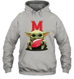 Baby Yoda Hug Maryland Terrapins The Mandalorian Hoodie